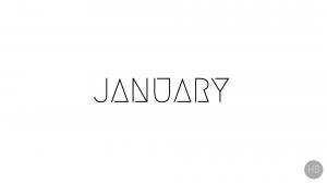 January Wallpaper White - Hello Black