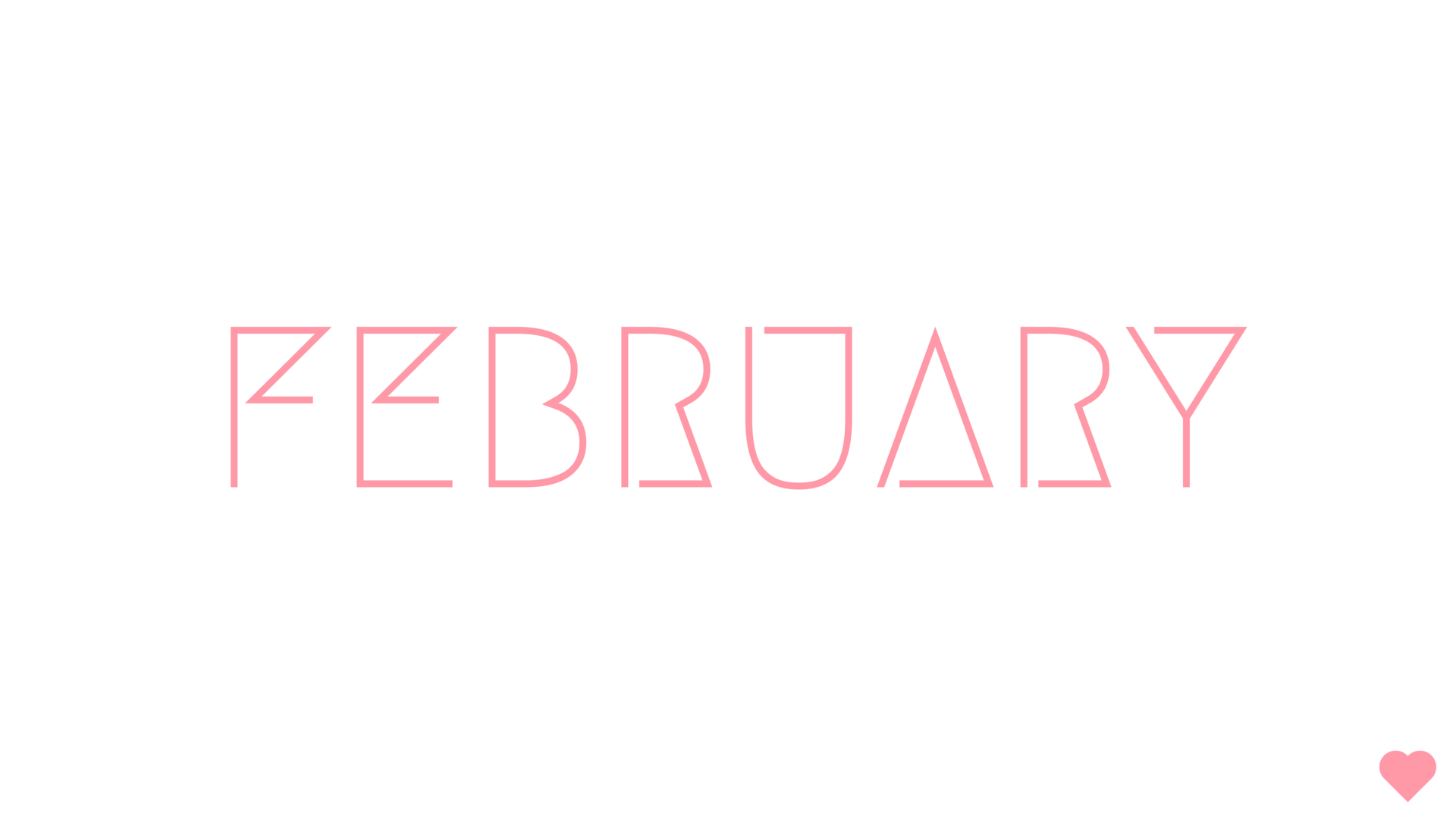 FEBRUARY WALLPAPER HELLO BLACK