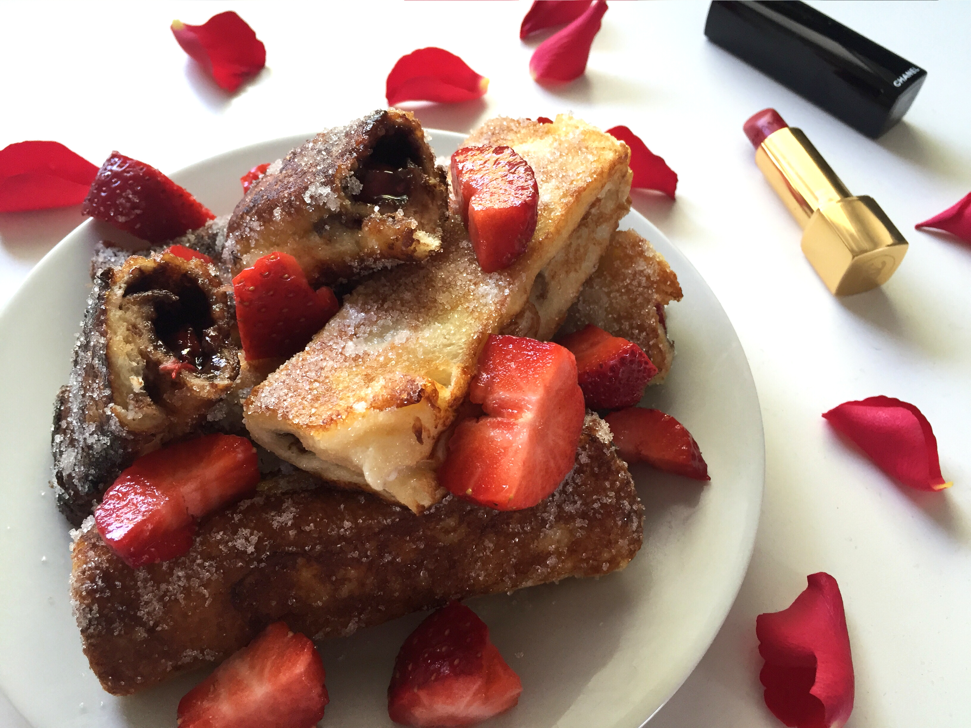 Nutella Strawberry French Toast Roll